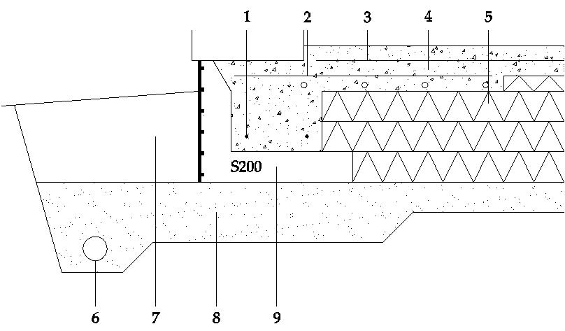 Murblock - Urtag i betongplattan som stöd för källarväggen.