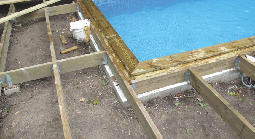 bygga altan med pool