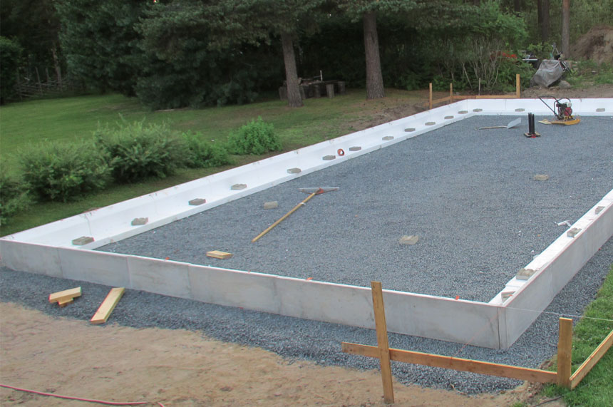 gjuta betongplatta garage pris